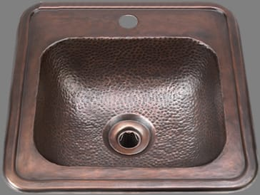 Bates B1012h On Sculptured Metals Drop In Bar Sink With