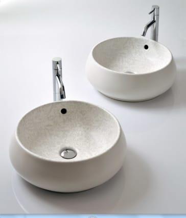 Bissonnet 24100 Dk Ceramic Vessel Sink With Matte White
