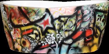 Aquabrass B0080 Graffiti Freestanding Bathtub Qualitybath Com