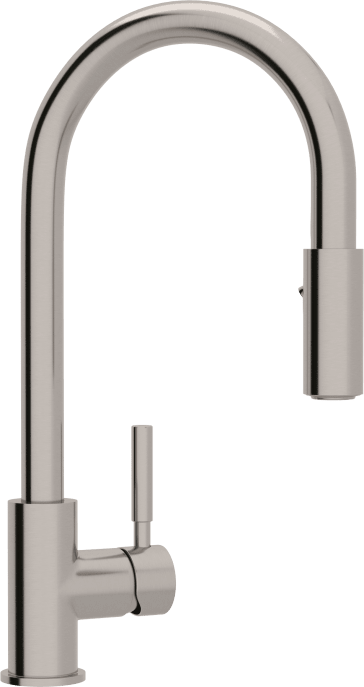 Rohl R7520ss Lux Stainless Steel Pull Down Kitchen Faucet