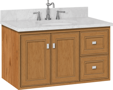 Strasser Woodenworks 20 841 Sodo Wall Mount Vanity With