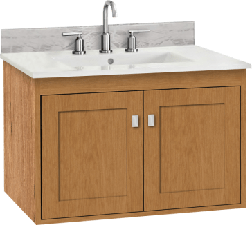 Strasser Woodenworks 20 190 Sodo Wall Mount Vanity With
