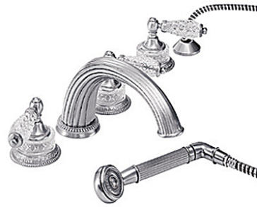 deck mount tub faucet with diverter. Watermark 180 8 1 image tub faucets  Venetian Deck Mount Tub Filler With Diverter And