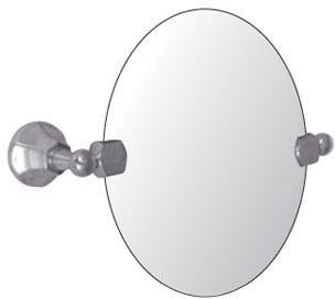 Watermark 312 0 9b gramercy oval mirror swivel for Oval swivel bathroom mirror