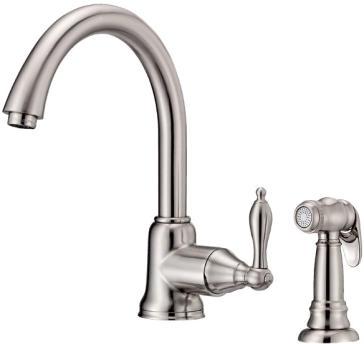Danze D401140SS Fairmont Single Lever Kitchen Faucet With Side Spray ...