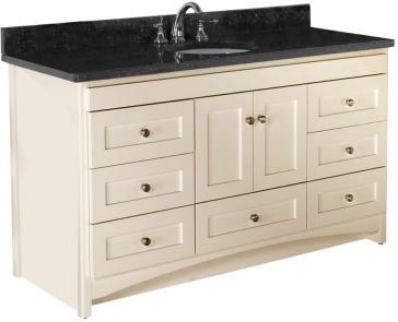 Strasser Woodenworks 43.901 Ravenna Center Basin Vanity With Shaker Doors |  QualityBath.com