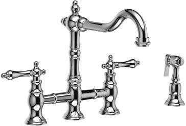 Demerx Mixer Shelf Blandarkorg also Riobel Br400 Bridge Kitchen Faucet With Cross Lever Handles Side Spray Product 118007 as well 118007 Horby Cancan Classic C Silver as well Recambio furthermore 207237 1285 0. on 118007