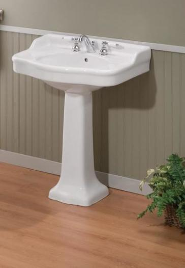 Cheviot 350 28 Wh 8 Antique Pedestal Lavatory