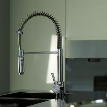 Ws Bath Collection Evo 176 Fonte Professional Kitchen Sink Mixer ...