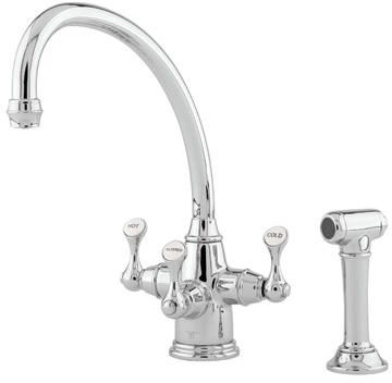 Rohl U.1520LS-PN-2 Traditional Etruscan Triflow 3-lever Kitchen ...