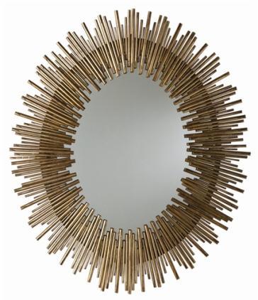 Arteriors 6561 prescott iron oval mirror for Prescott mirror