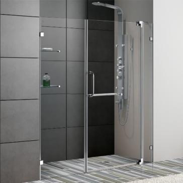 Vigo vg6042chcl60 54 60 frameless shower door 38 tempered vigo vg6042 image 1 planetlyrics Gallery