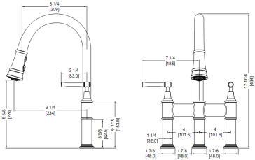 Elkay LKEC2037 Explore Pull-down Bridge Kitchen Faucet ...