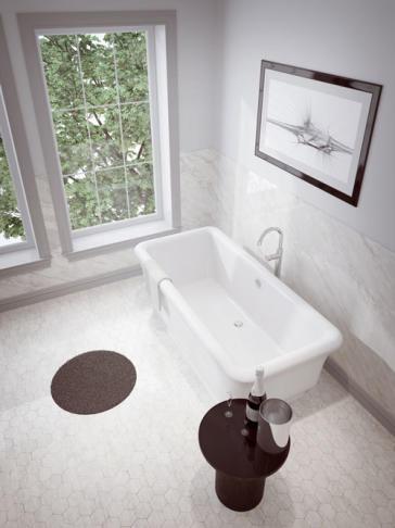 60 Free Standing Tub.  Freestanding Soaker Tub60FS33 60 L x 33 1 2 W 25 H Slik Portfolio 60FS33 Merit 5ft Tub