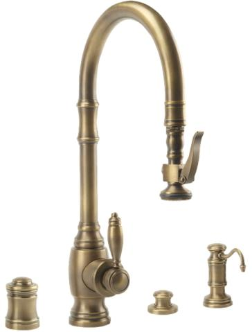 Waterstone 5600-4 Plp Pulldown Kitchen Faucet With Soap Dispenser ...