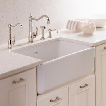 rohl rc3018 shaws 30 quot original fireclay apron sink 10202