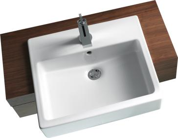 Duravit 11 Vero Semi Recessed Washbasin | QualityBath.com