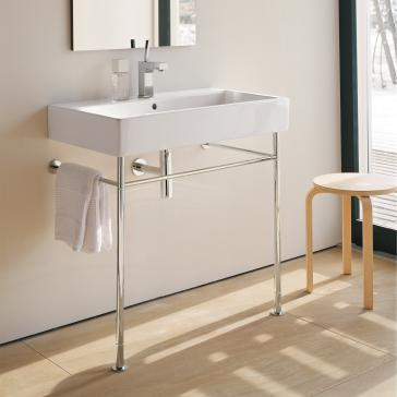 Duravit 045480 vero washbasin for metal console legs - Bathroom console sink metal legs ...