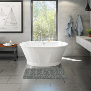 60 freestanding soaking tub. 60  L x 42 W 23 H Maax 103901 000 002 Brioso 6042 Freestanding Soaker Tub