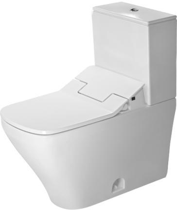 duravit 2160510000set two piece toilet with sensowash slim. Black Bedroom Furniture Sets. Home Design Ideas