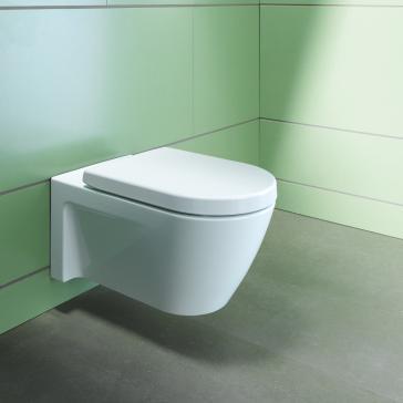 Duravit 2533090092 Starck 2 Wall Mounted Toilet   QualityBath.com
