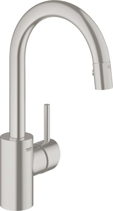 Grohe 31479DC0 Concetto Pull-out Dual Spray Bar Faucet | QualityBath.com