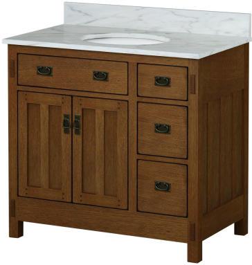 Sagehill Designs Ac3621dn New American Craftsman Vanity