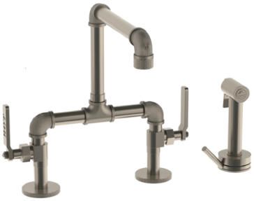 WatermarkElan Vital Bridge Kitchen Faucet With Progressive Side Spray38 7.65