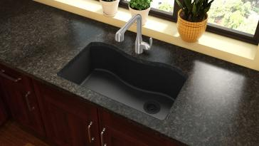 granite kitchen sinks reviews elkay elgus3322r quartz classic 33 quot kitchen sink 3894