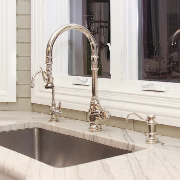 Waterstone 5500 Plp Extended Reach Pulldown Kitchen Faucet | QualityBath.com