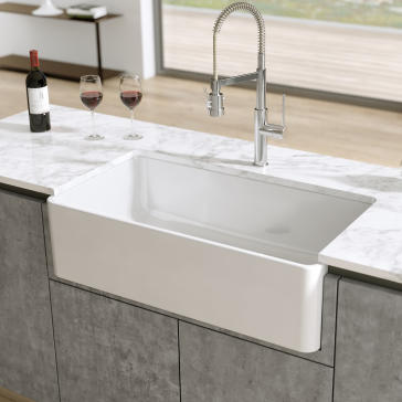 Latoscana Ltw3619w 36 Quot Reversible Fireclay Farmhouse Sink