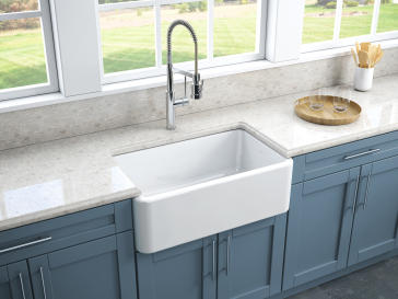 Latoscana Lfs3018w 30 Quot Reversible Fireclay Farmhouse Sink