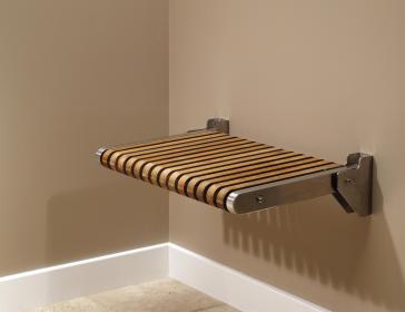 Mti TK-SSEAT2416BNS Teak Shower Seat - Premium   QualityBath.com