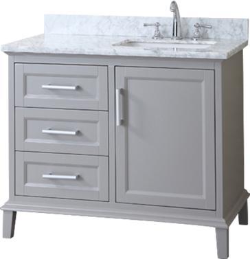 Ariel SC-NAN-42 Nantucket Single Sink Bathroom Vanity Set ...