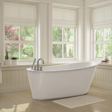 Maax 105797 000 Sax Elegant Small Sized Freestanding Soaker Tub |  QualityBath.com