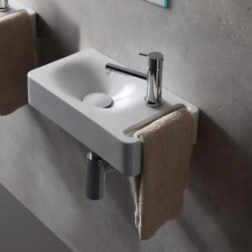 Scarabeo 1513 One Hole Hung Bathroom Sink Qualitybath Com