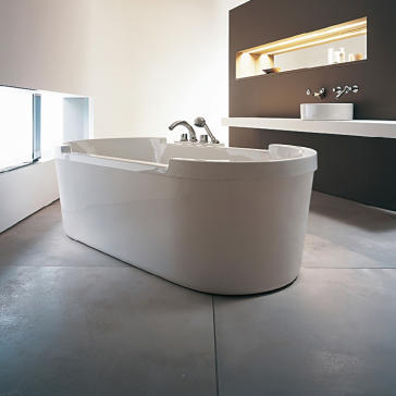 Duravit 700012000000090 Starck Freestanding Soaker Tub | QualityBath.com