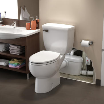 Saniflo 082 Saniaccess3 Rear Spigot Toilet With Macerating