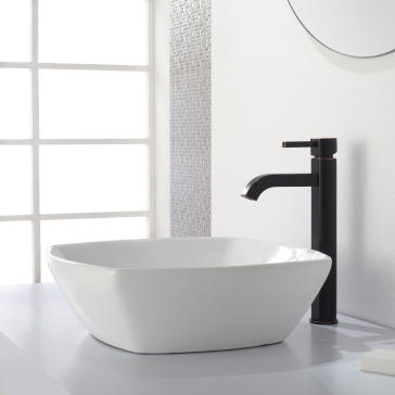 Kraus FVS-1007 Ramus Vessel Bathroom Faucet | QualityBath.com