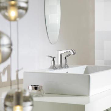 Hansgrohe 31073 Metris C Widespread Faucet | QualityBath.com