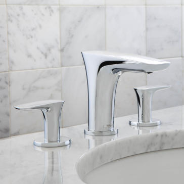 Discount Bathroom Faucets >> Hansgrohe 15073 Puravida Widespread Faucet | QualityBath.com