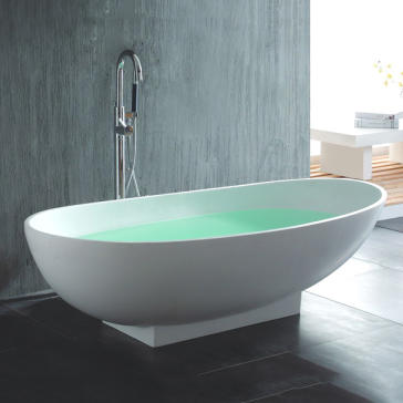 Hastings OVO-TUB-GL Ovo Silk Freestanding Tub | QualityBath.com