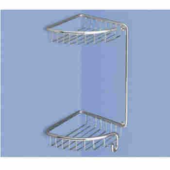 Neptune wire baskets bathroom corner rectangular wall Collection chrome