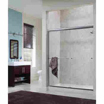 Bathroom Sliding Gl Door Design on