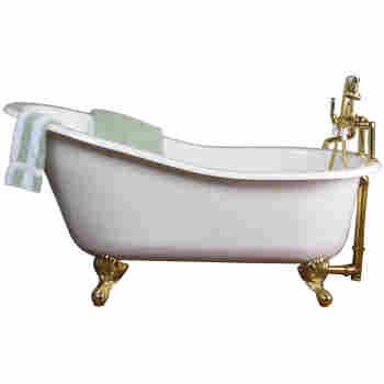 Barclay Ctsh60 Wh Griffin 61 Cast Iron Slipper Tub Qualitybathcom