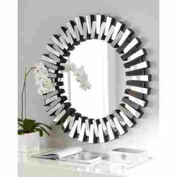 Afina Ml 36 R Modern Luxe Contemporary, Round Decorative Mirror Canada