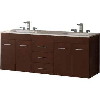 Ronbow 011223 632115 Bella Double Vanity With Drawer Bridge