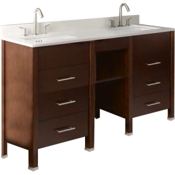 Ronbow 030323 648015 H01 Kali Double Vanity With Shelf Bridge