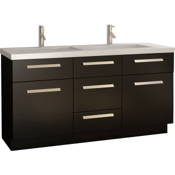 Design Element J60-DS Moscony Double Sink Vanity Set | QualityBath.com