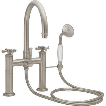 California Faucets 1308 48x 20 Traditional Deck Mount Tub